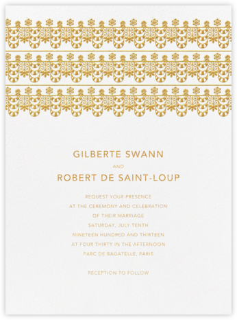 Van Alen Scallop I (Invitation) - Oscar de la Renta - Wedding Invitations