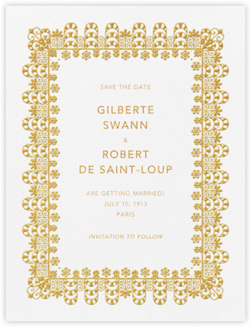Van Alen Scallop I (Save the Date) - Oscar de la Renta -