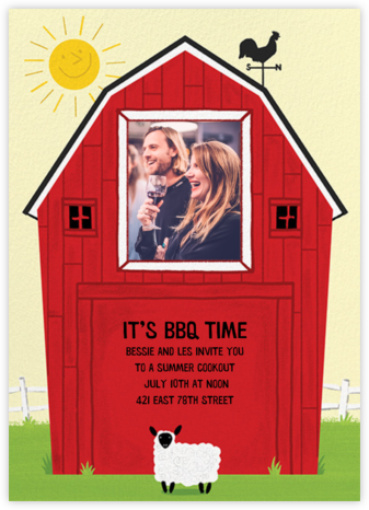 Barn Raising - Sheep - Paperless Post - Summer Party Invitations