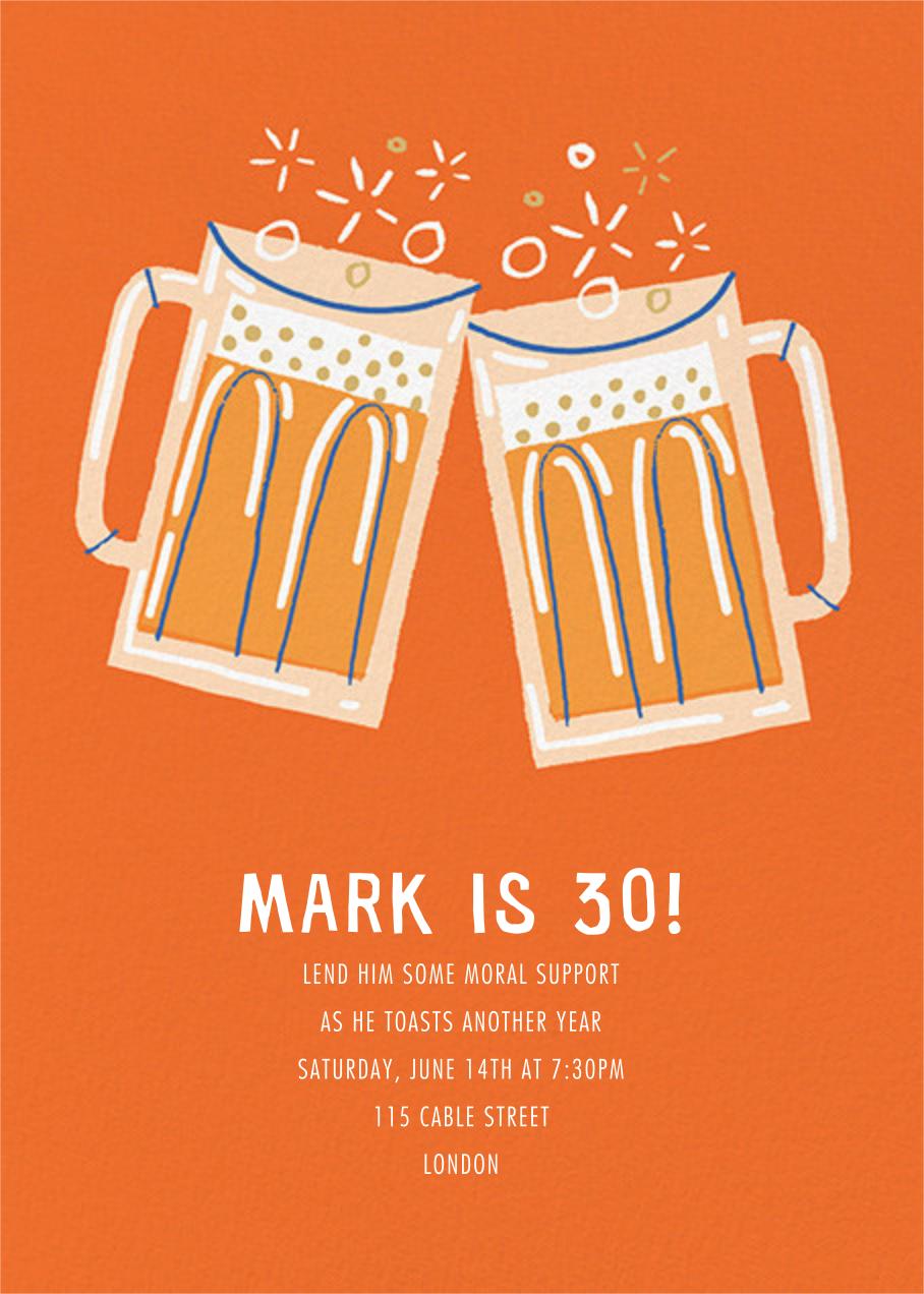 Beer Me - Paperless Post - Adult birthday invitations