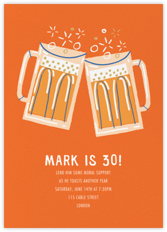 Beer Me - Paperless Post - Adult birthday invitations