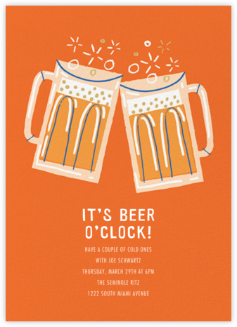 Beer Me - Paperless Post - Happy Hour Invitations