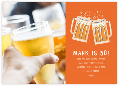 Beer Me Photo - Paperless Post - Adult Birthday Invitations