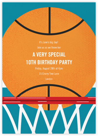 Hoop Dreams - Paperless Post - Online Kids' Birthday Invitations