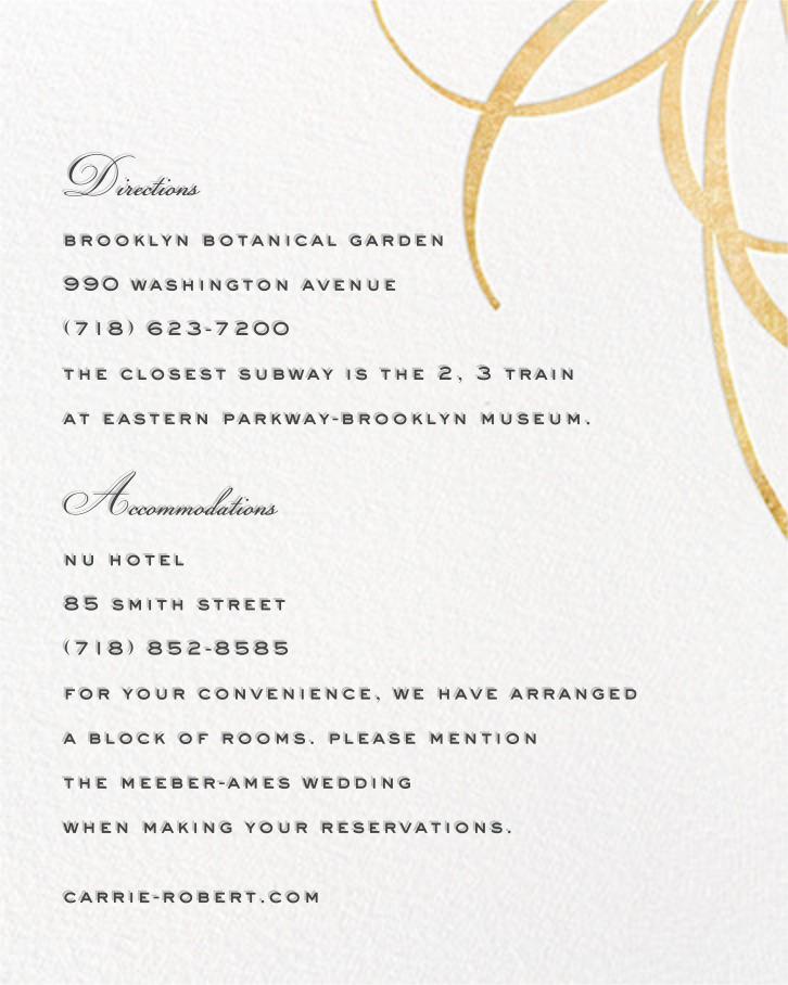 Belle Boulevard (Invitation) - Gold - kate spade new york - All - insert front