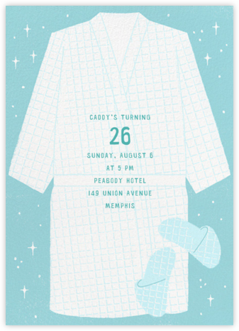 Robe and Slippers - Paperless Post - Adult Birthday Invitations