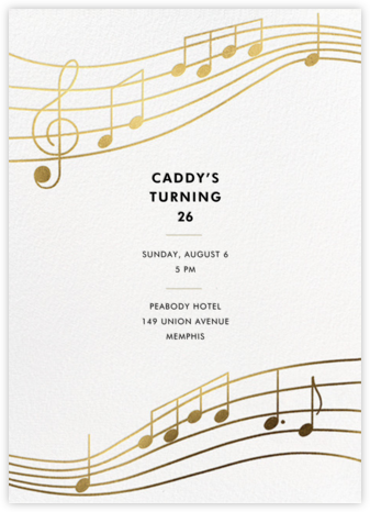 Glissando - Paperless Post - Adult Birthday Invitations
