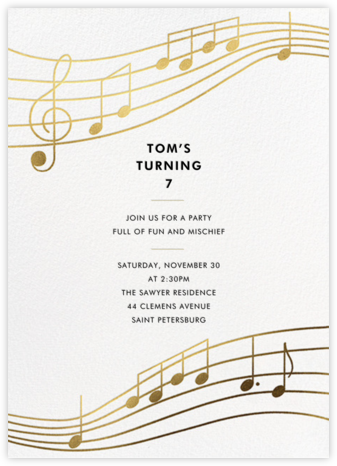 Glissando - Paperless Post - Birthday invitations