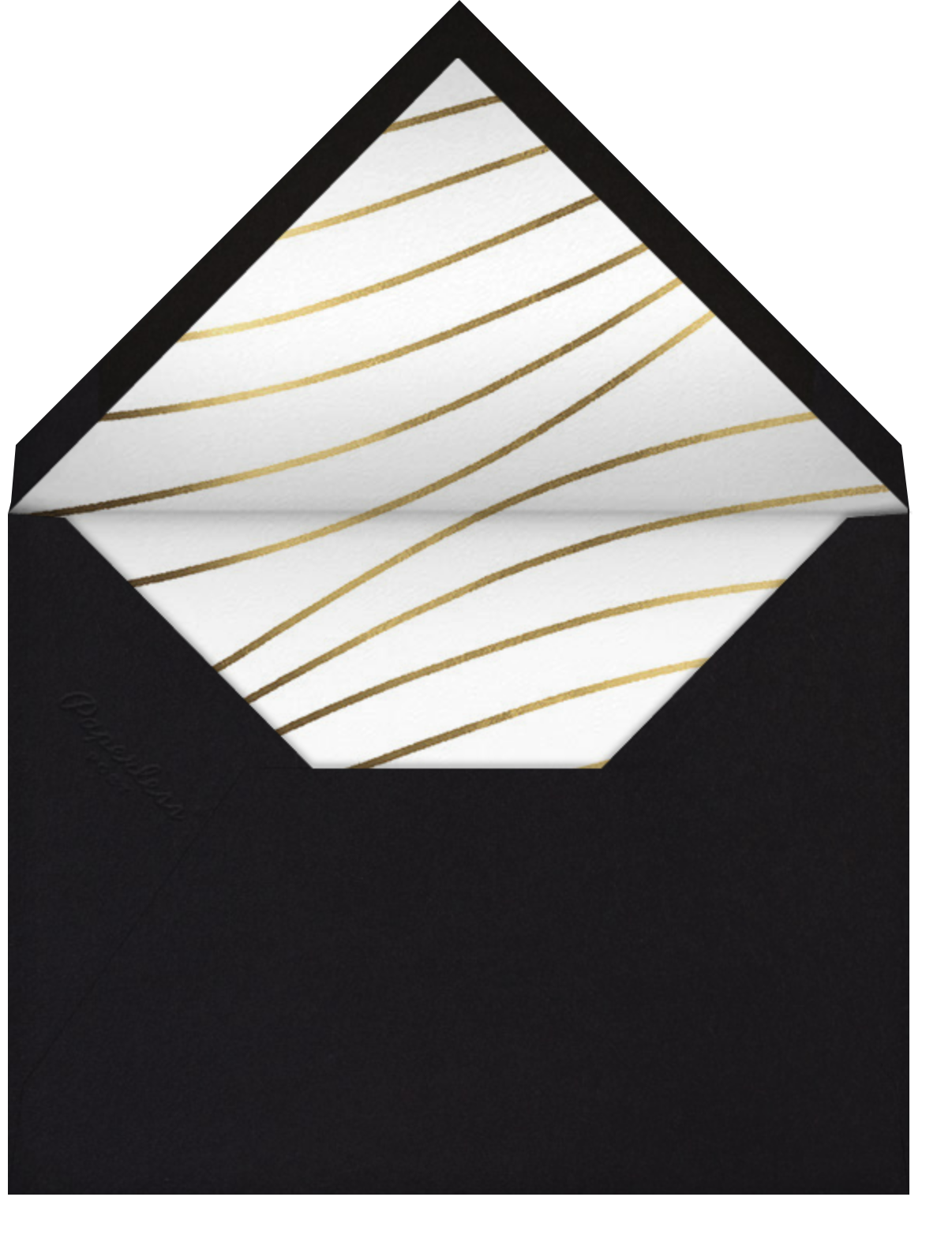 Glissando - Paperless Post - Viewing party - envelope back