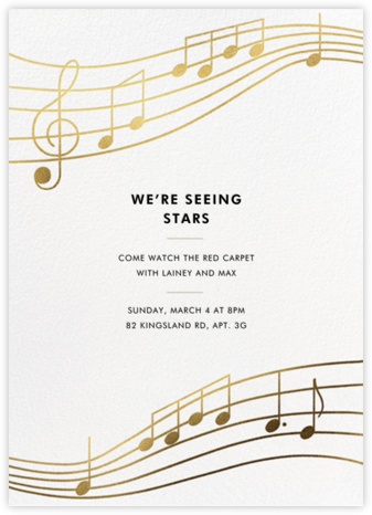 Glissando - Paperless Post - Online Party Invitations