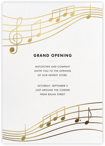 Glissando - Paperless Post - Business event invitations