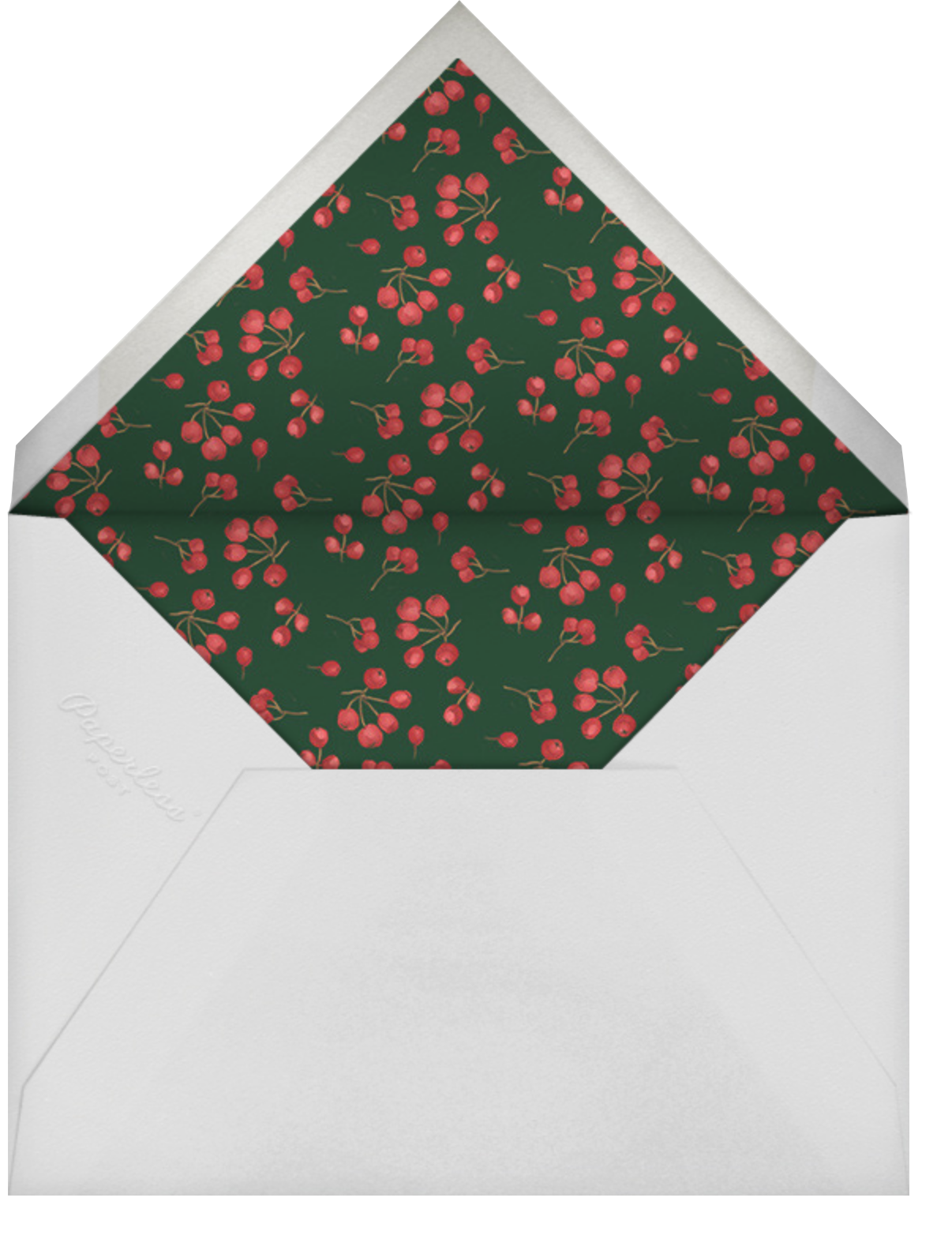 Holly Branch Holiday - Paperless Post - Company holiday cards - envelope back