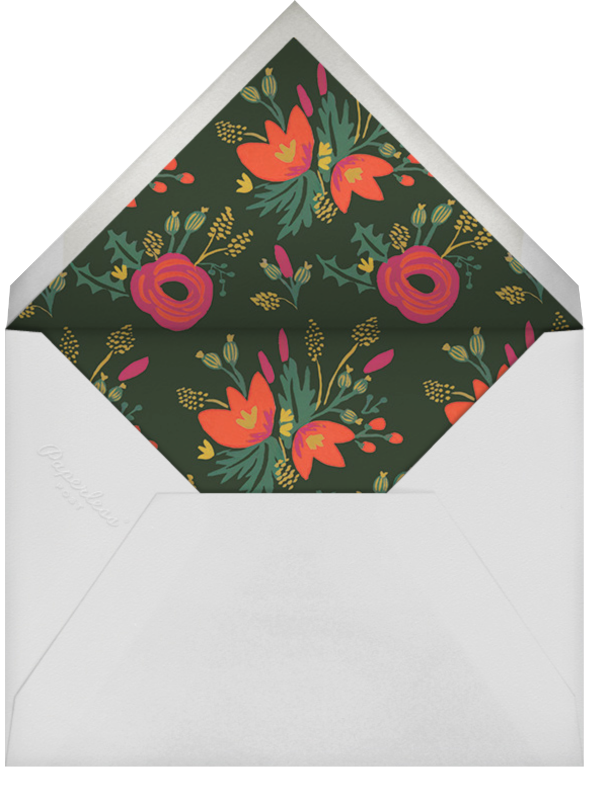 Merry, Bright, and Blooming - Rifle Paper Co. - Business holiday cards - envelope back