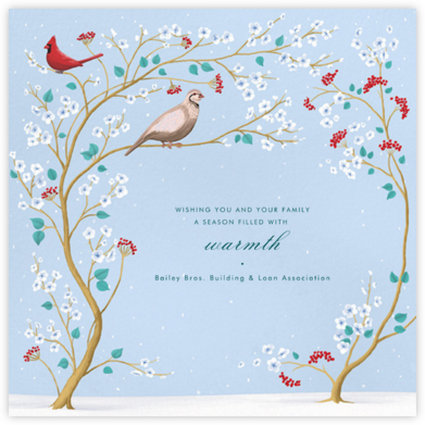 Winter Chinoiserie - Paperless Post - Company holiday cards