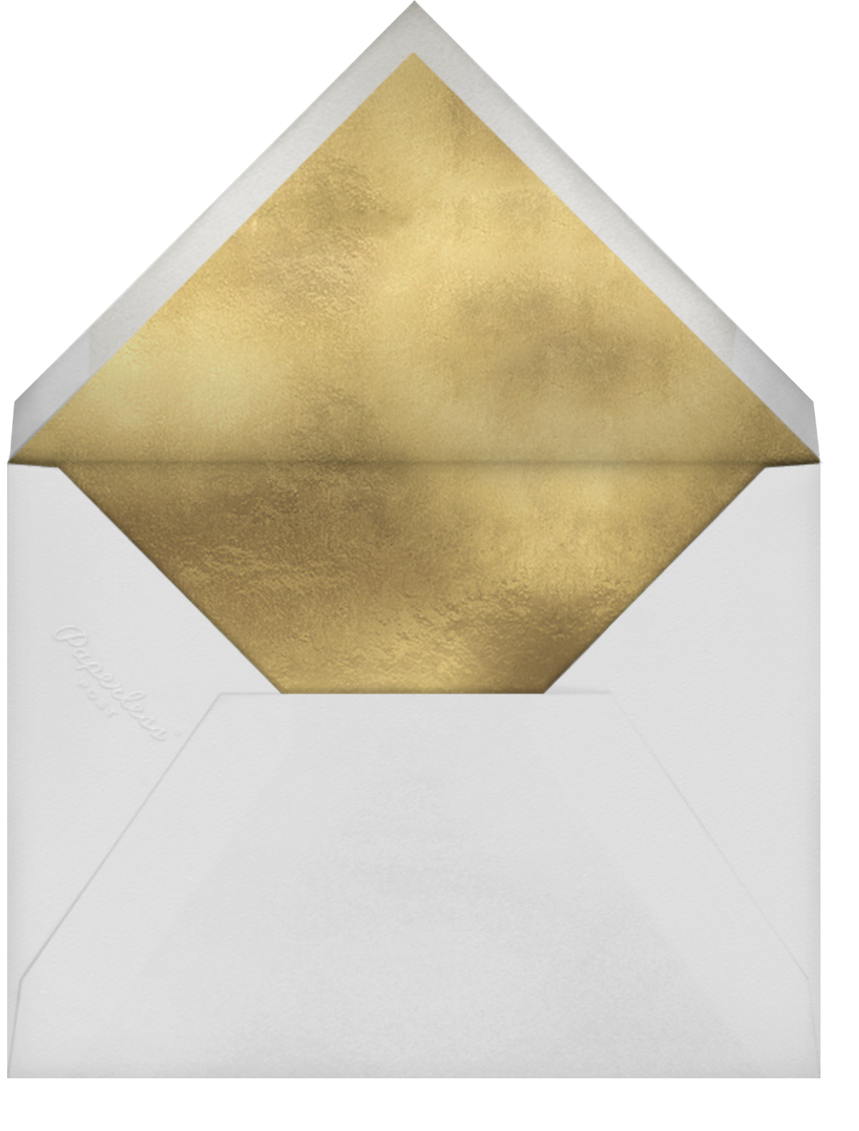 Evelina (Photo) - White/Gold - Paperless Post - Save the date - envelope back