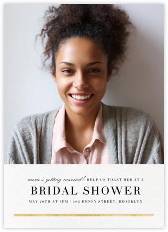 Underscore (Photo) - Gold - Paperless Post - Bridal shower invitations