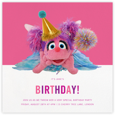 Abby Cadabby - Sesame Street - First Birthday Invitations