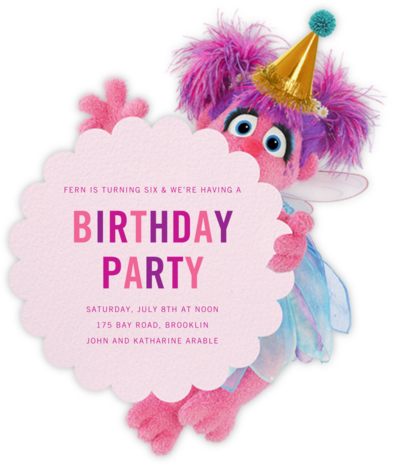 Abby's Flight School - Sesame Street - First Birthday Invitations