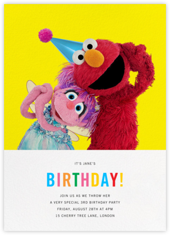 Birthday Fun! - Sesame Street - Kids' birthday invitations