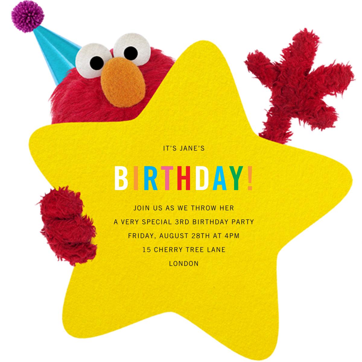 Hey, Elmo - Sesame Street - Sesame Street Invitations