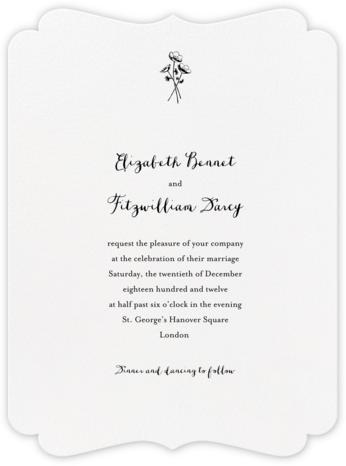 Alcazar - Black - Crane & Co. - Classic wedding invitations