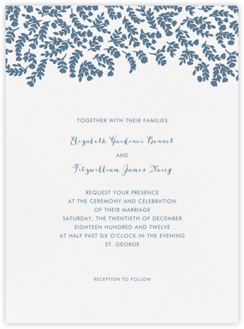 Anthea - French Blue - Crane & Co. - Romantic wedding invitations