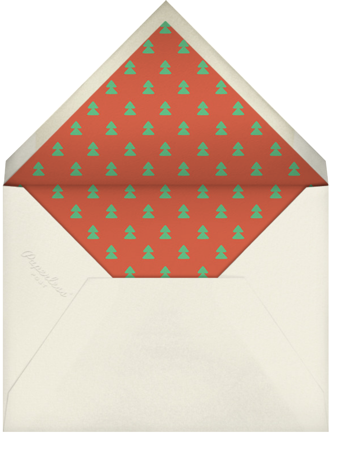 Surfing Snowman - Paperless Post - Christmas - envelope back