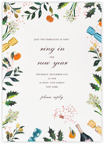 A Cracking Good Time - Happy Menocal - New Year's Eve Invitations