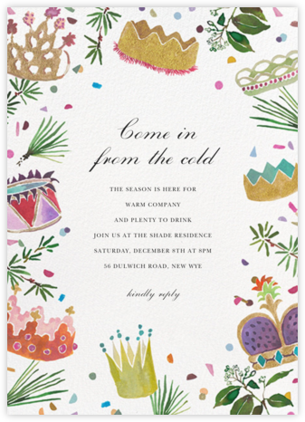 A Crowning Achievement - Happy Menocal - Holiday party invitations