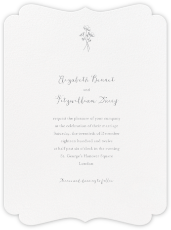Alcazar - Platinum - Crane & Co. - Classic wedding invitations