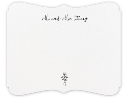 Alcazar (Thank You) - Black - Crane & Co. - Personalized Stationery