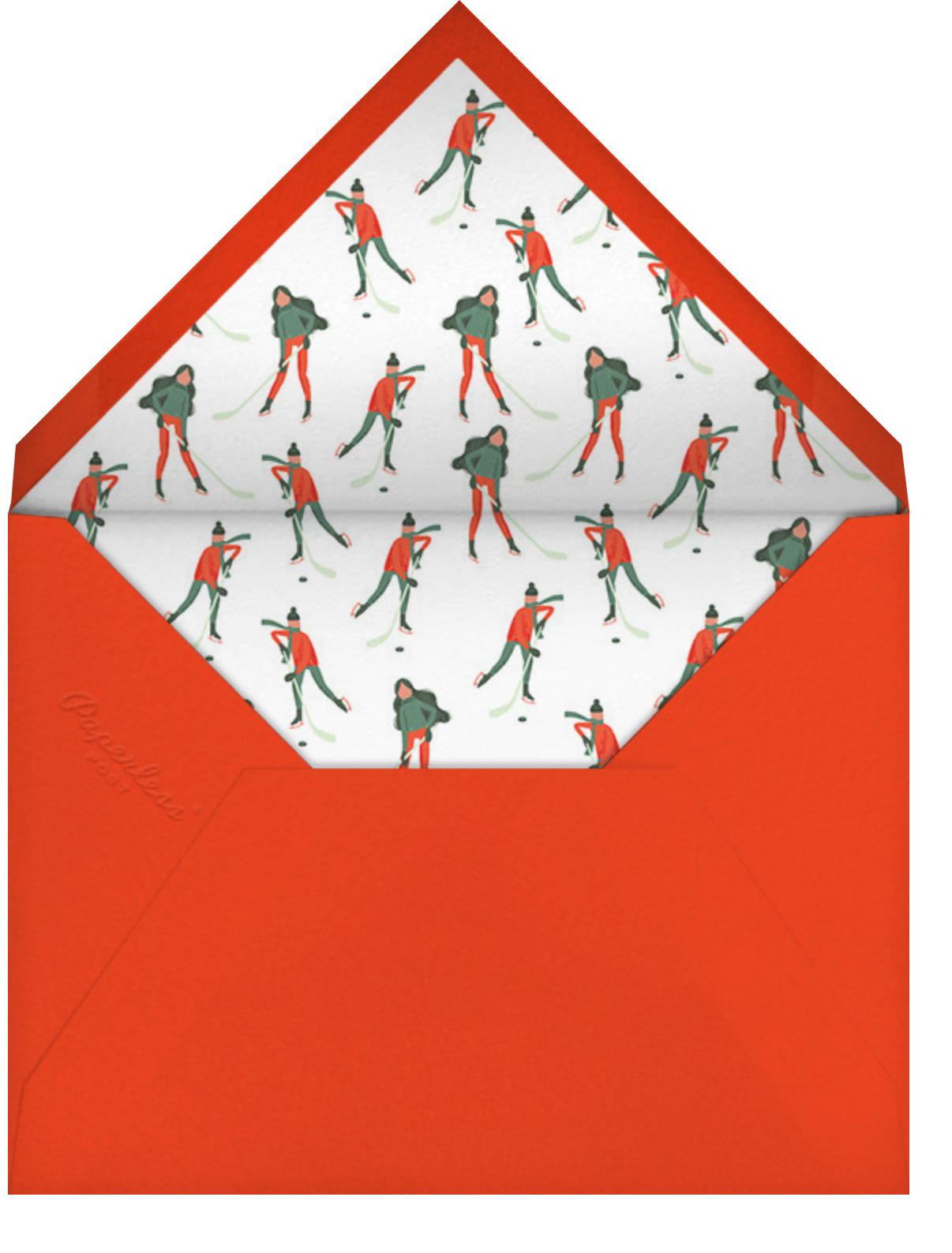 Holiday Hockey (Horizontal) - online at Paperless Post