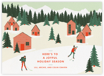 Holiday Hockey (Horizontal) - Paperless Post - Holiday cards