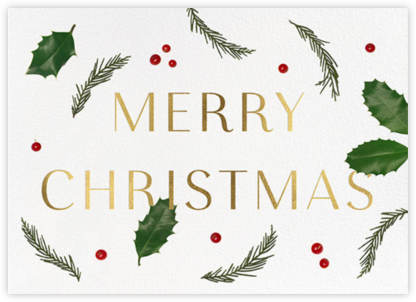 Holly Potpourri - Paperless Post - Christmas Cards
