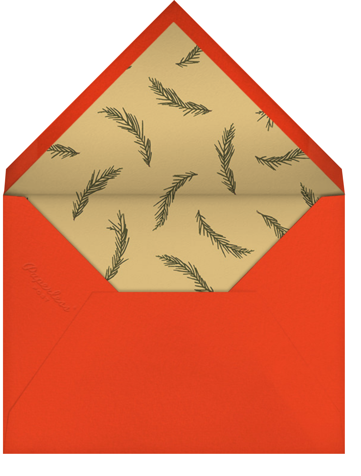 Holly Potpourri - Paperless Post - Business holiday cards - envelope back