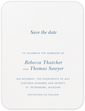 Andros (Save The Date) - French Blue | null