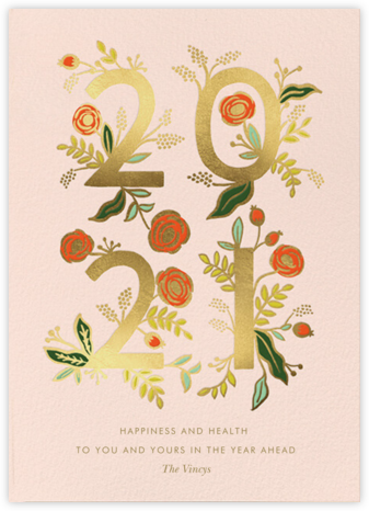 Poppy New Year - Rifle Paper Co. - New Year Cards
