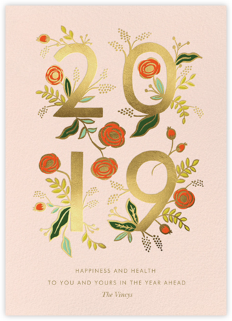 Poppy New Year 2019 - Rifle Paper Co. - New Year cards
