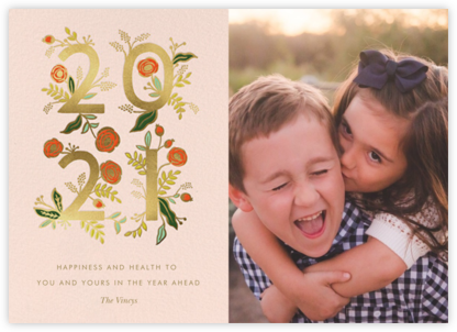 Poppy New Year Photo - Rifle Paper Co. - New Year Cards