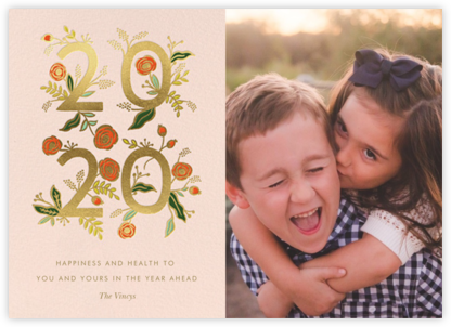 Poppy New Year 2020 Photo - Rifle Paper Co. - Holiday Cards