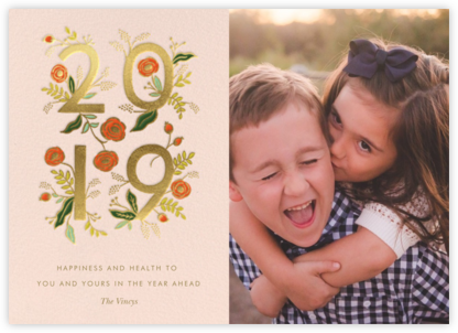 Poppy New Year 2019 Photo - Rifle Paper Co. - Holiday cards