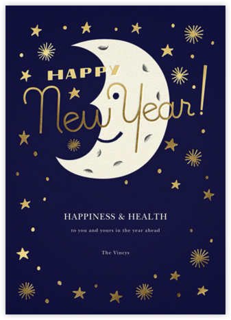 New Moon - Paperless Post - New Year Cards