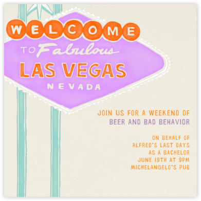 Vegas Welcome - Lilac - Paperless Post -