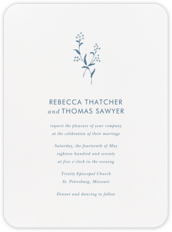 Andros - French Blue - Crane & Co. - Wedding invitations