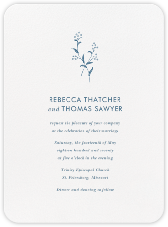 Andros - French Blue - Crane & Co. - Classic wedding invitations