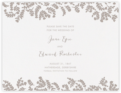 Anthea (Save The Date) - Taupe - Crane & Co. -