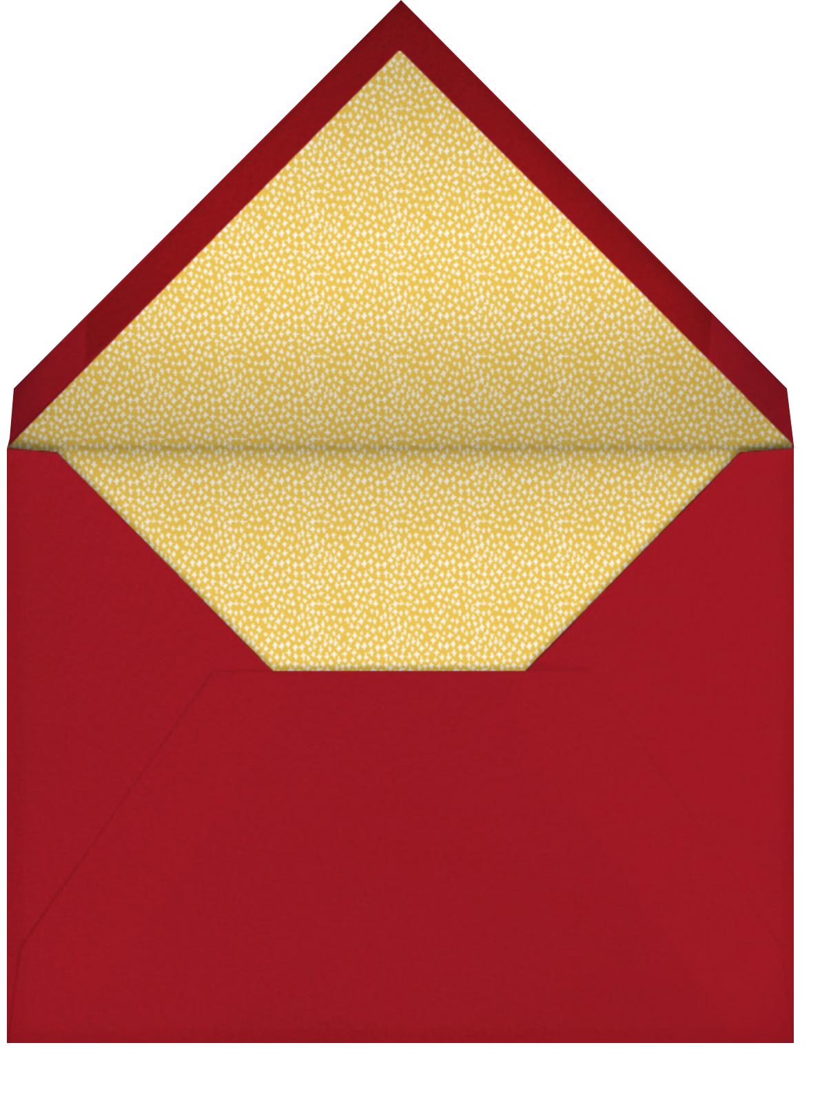 Big Apple Holiday Traffic - Mr. Boddington's Studio - Holiday party - envelope back