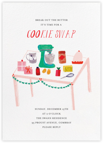 I Love the Russian Teacakes - Mr. Boddington's Studio - Cookie Swap Invitations