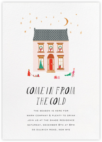 The House is Open - Mr. Boddington's Studio - Holiday invitations