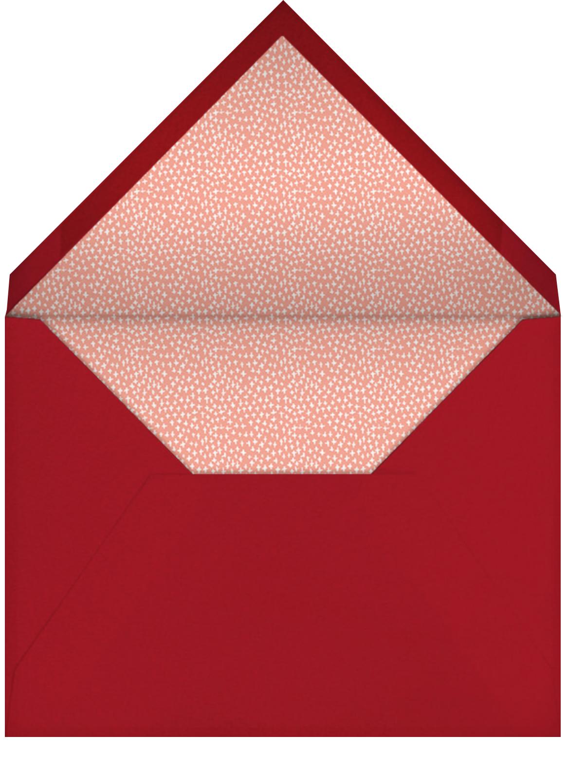 The House is Open - Mr. Boddington's Studio - Christmas party - envelope back